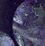 struktura abstrakcyjna abstrakcyjny tło Ciecz akrylowy Rzadkopłynna sztuka Astronautyczny tło Zdjęcie Stock
