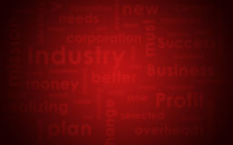 struktura abstrakcyjna Blured biznesu czerwień i słowa Obrazy Royalty Free
