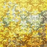 struktura abstrakcyjna Ilustracja z sztuka kwiatem na złocistym tle Zdjęcie Royalty Free