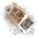 struktura dachowa royalty ilustracja