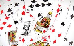 struktura karty grać Obrazy Stock