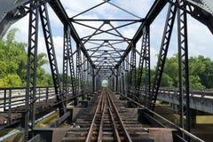Struktura metalu kolejowy most Obraz Royalty Free