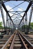 Struktura metalu kolejowy most Fotografia Royalty Free