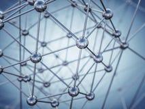 struktura molekularna 3d Zdjęcie Stock