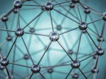 struktura molekularna 3d Obraz Stock