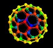 struktura molekularna fullerene Fotografia Royalty Free