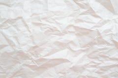 struktura papierowej Biały zmięty papierowy tło lub tekstura ilustracja wektor