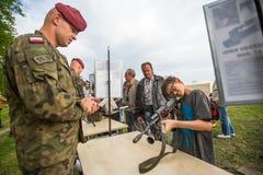 Struktura rocznika połysku obywatelu i święto państwowe konstytuci dniu podczas demonstraci sprzęt ratowniczy w i wojskowy Fotografia Royalty Free