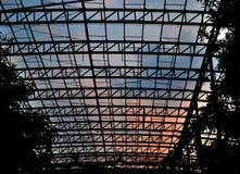 Struktura & x28; Silhouette& x29; Fotografia Royalty Free
