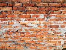 struktura stare czerwone cegły, rujnująca ściana Obrazy Royalty Free