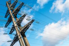 Struktura wysokonapięciowi elektryczni metali poparcia Obraz Stock