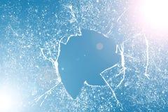struktura z?amana szklana Realistyczny krakingowy szklany skutek, poj?cie element zdjęcia royalty free