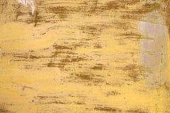 struktura zardzewiała Żółty tło drapający malujący kruszcowy zdjęcie royalty free