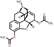 strukturell formelheroin Arkivbilder