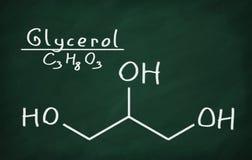 Strukturell modell av Glycerol Royaltyfria Bilder