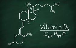 Strukturell modell av molekylen för vitamin D3 Royaltyfria Bilder