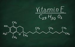 Strukturell modell av vitamin E Royaltyfri Fotografi