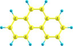 Strukturell modell för Phenanthrenemolekyl på vit Royaltyfria Foton