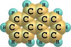 Strukturell modell för Phenanthrenemolekyl på vit Arkivfoto
