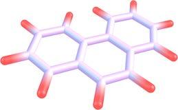 Strukturell modell för Phenanthrenemolekyl på vit Royaltyfria Bilder