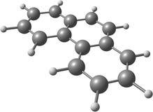 Strukturell modell för Phenanthrenemolekyl på vit Royaltyfri Bild