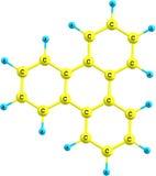 Strukturell modell för Triphenylene molekyl på vit Royaltyfri Fotografi