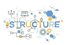 Strukturell organisation av affärsprocessen som ordnar strukturen och planerar begrepp stock illustrationer