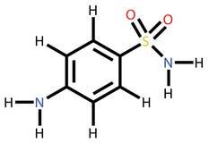 strukturell sulfanilamide för formel Royaltyfri Fotografi