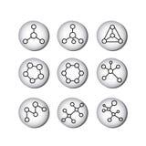 Strukturella formler av molekylar royaltyfri illustrationer