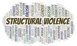 Strukturelle Gewalttätigkeit - Art der Unterscheidung - Wortwolke lizenzfreie abbildung