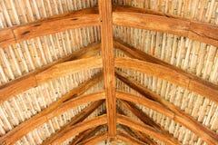 Strukturelles hölzernes Dach Lizenzfreie Stockbilder