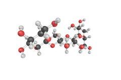 strukturen 3d av cellulasen, enzym producerade huvudsakligen vid svampar, lodisar Arkivfoto