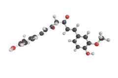 strukturen 3d av Curcumin, en ljus gul kemikalie producerade vid s stock illustrationer