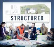 Strukturerat begrepp för plan för design för byggnadskonstruktion royaltyfria foton