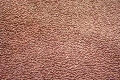 strukturerat brunt läder Arkivbilder