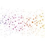 Strukturieren Sie Molekül und Kommunikation DNA, Atom, Neuronen Wissenschaftskonzept für Ihr Design Verbundene Linien mit Punkten vektor abbildung