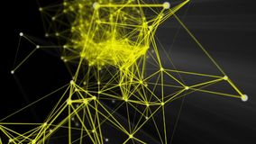 Strukturieren Sie Verbindung und Partikel stock footage