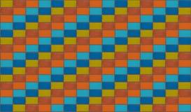 strukturiert und Farben! Orange blockiert blaue diagonale Linie Schritte stock abbildung