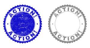 Strukturierte AKTION! Schmutz-Stempel mit Band vektor abbildung