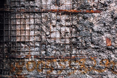 Strukturierte Backsteinmauer Stockfotografie