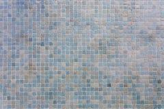 Strukturierte blaue Wandfliesen Stockfotografie
