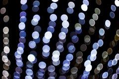Strukturierte Blaulichter auf den Straßen stockbilder
