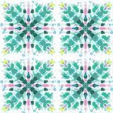 Strukturierte Blumenfliese Lizenzfreie Stockfotografie