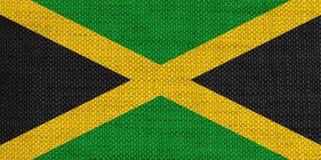 Strukturierte Flagge von Jamaika in den netten Farben lizenzfreie stockfotografie