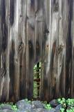 Strukturierte gebrochene hölzerne Wand Stockfoto