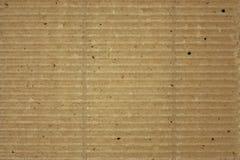 Strukturierte gewölbte gestreifte Pappe Stockfotografie