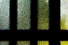Strukturierte Glastür Stockfotos