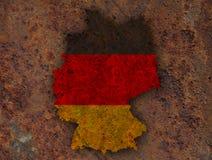 Strukturierte Karte von Deutschland in den netten Farben Stockfotos