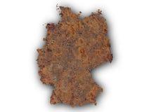 Strukturierte Karte von Deutschland in den netten Farben Stockfoto