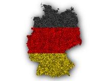 Strukturierte Karte von Deutschland in den netten Farben Stockbilder